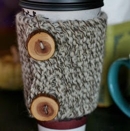 How to Knit a Coffee Cozy:  Free Knitting + Crochet Pattern