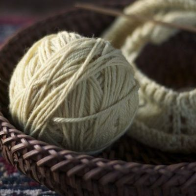 Yarrow:  Plant Dyed Yarn