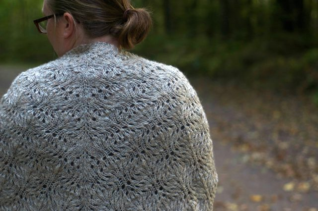 Isle of Purbeck shawl knitting pattern by annie claire