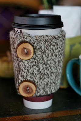 how to knit a coffee cozy